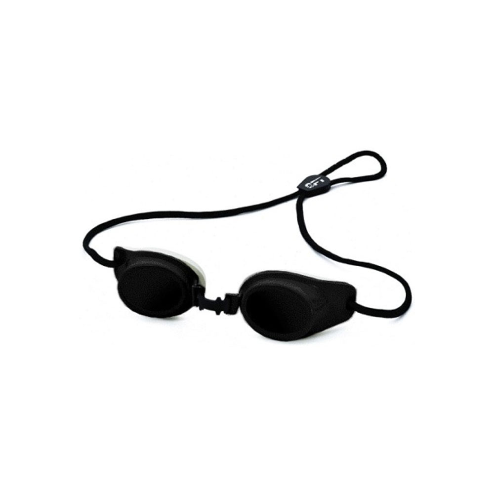Patient Eye Protection. Black Spectra Shield (w/4pc Replacement foam)