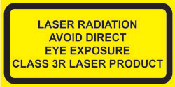 "Class 3R Explanatory Label for 400nm to 1400nm lasers  (2""w x 1""h)"