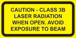 "IEC Invisible Class 3B  Noninterlocked  protective housing label (2""w x 1""h)"