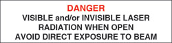 "Class IIIb Non-Interlocking Protective Housing Label (Visible and/or Invisible Laser)..3/4"" x 3"""