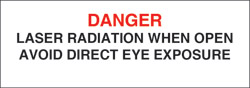 "Class IV Non-Interlocking Protective Housing Label (Laser Radiation) 1"" x 3"""