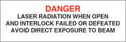 "Class IIIb Optionally Interlocked Interlocked Protective Housing Label (Laser Radiation) 1"" x 3"""