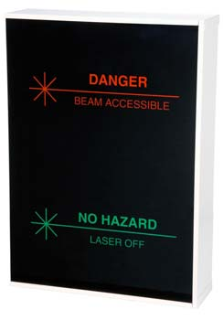 Two way illuminated warning sign with relay