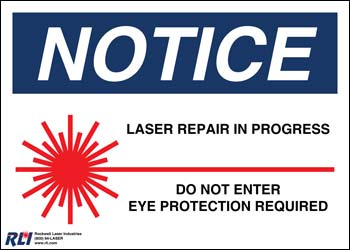PVC Small Laser Repair Sign