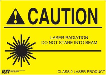 Magnetic Class 2 Caution Sign