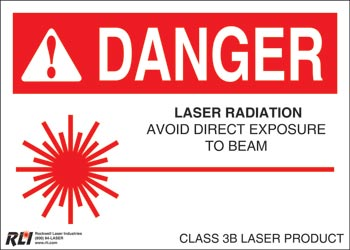 PVC Class 3B Danger Sign-Laser Radiation