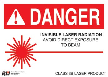 Magnetic Class 3B Danger Signs-Invisible Laser Radiation