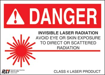 Paper Class 4 Danger Sign-Invisible Laser Radiation