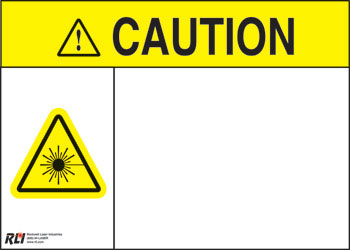 Blank Paper Caution Sign