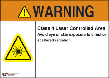 PVC Class 4 Laser Warning Sign