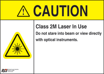 Magnetic Class 2M Caution Sign