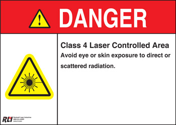 Plastic Class 4 Danger Sign-Controlled Area